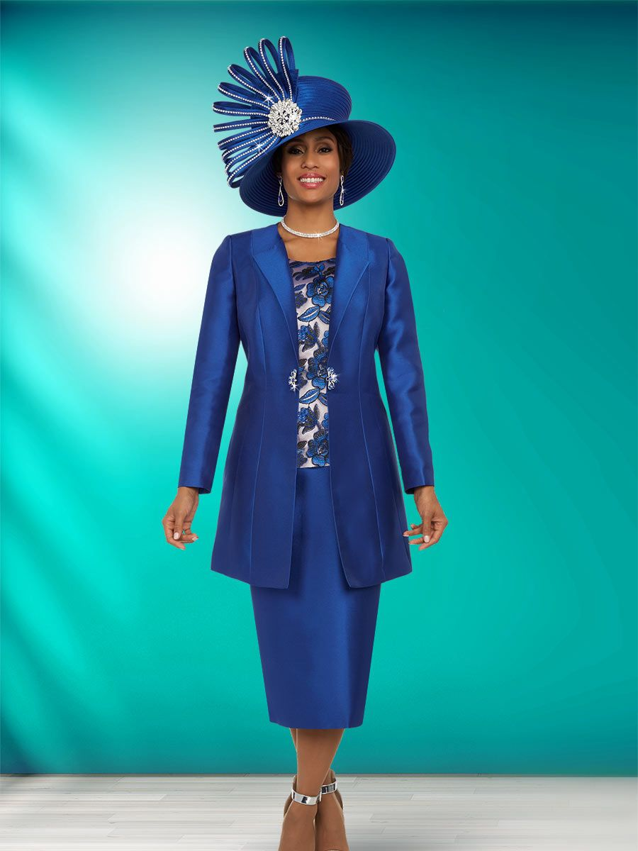 Ben Marc 48136 Ladies 3 Piece Church Suit: French Novelty