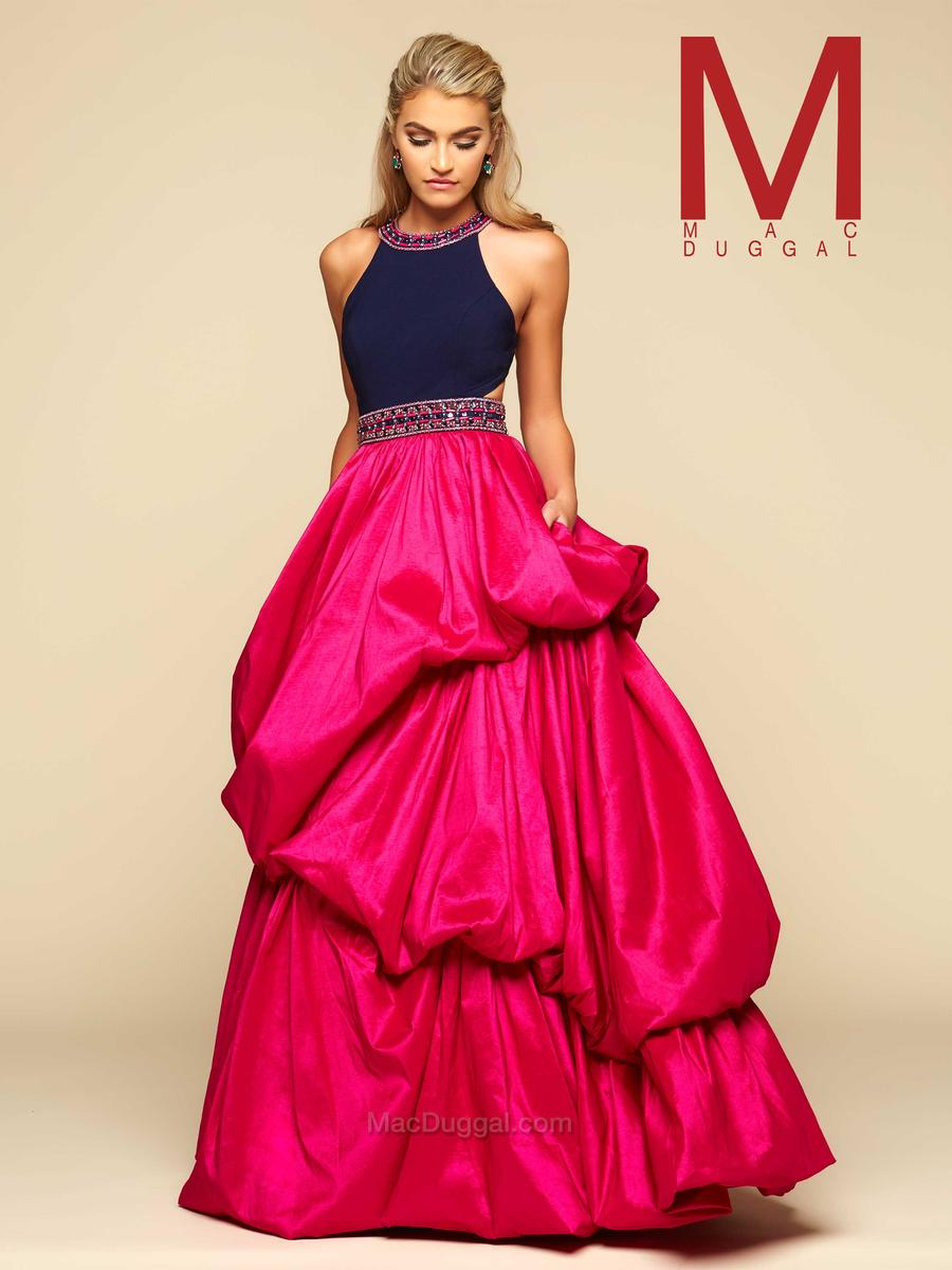 Mac Duggal 48426H Bubble Skirt Ball Gown: French Novelty