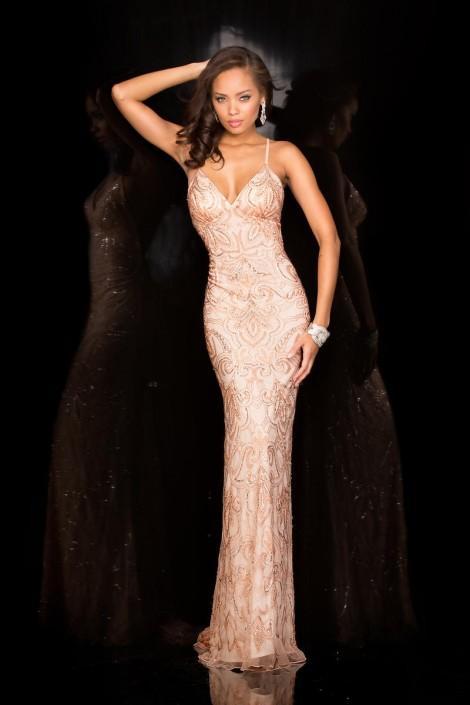 Deep v long dress #6031 1