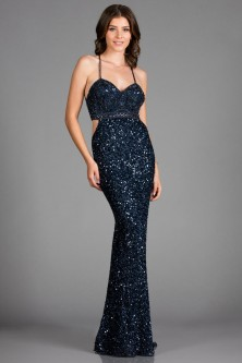 041336b45c Scala 48912 Beaded Gown with Cut Out Sides
