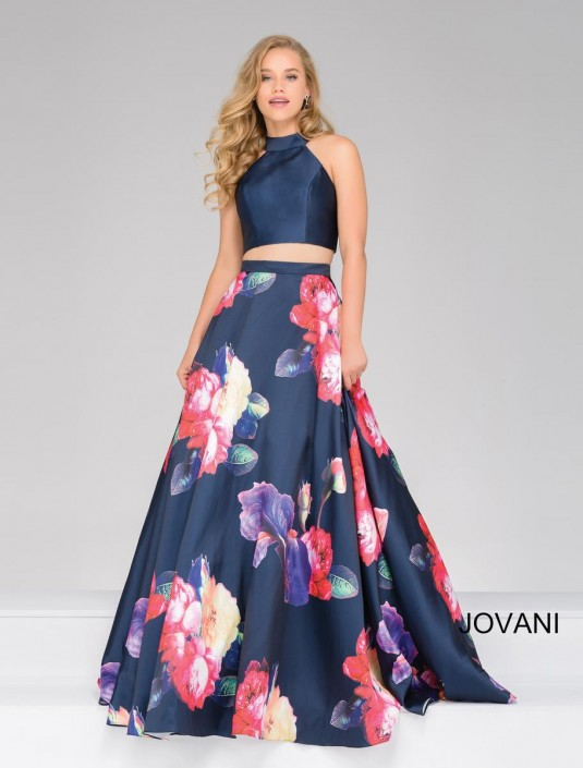 660ca14eeabb Jovani 48937 High Neck 2 Piece Ball Gown: French Novelty