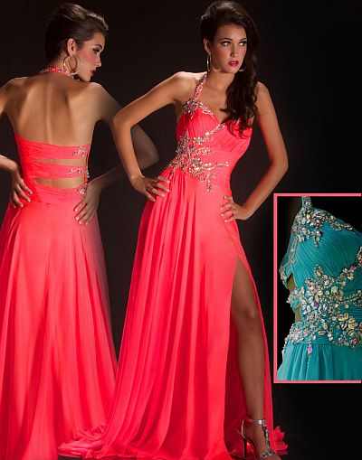 cassandra stone by macduggal neon prom dress 50007a french novelty. Black Bedroom Furniture Sets. Home Design Ideas