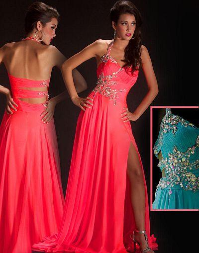 Cassandra Stone by MacDuggal Neon Prom Dress 50007A: French Novelty