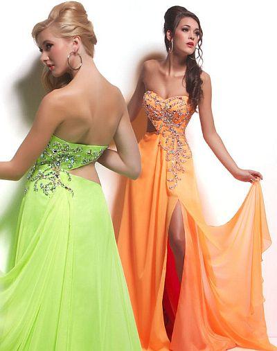 Cassandra Stone by MacDuggal Neon Prom Dress 50022A: French Novelty