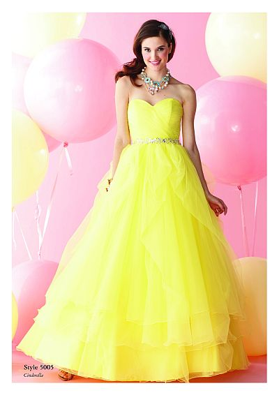 Alfred Angelo Disney Royal Ball Gown Prom Dress 5005
