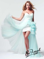 Mac Duggal 50067M High Low Sequin Lace Party Dress image