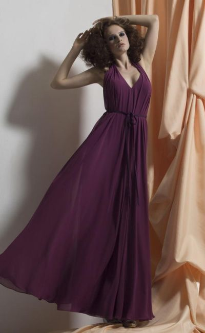 Liz Fields 501 Belted Or Loose Bridesmaid Dress French Novelty