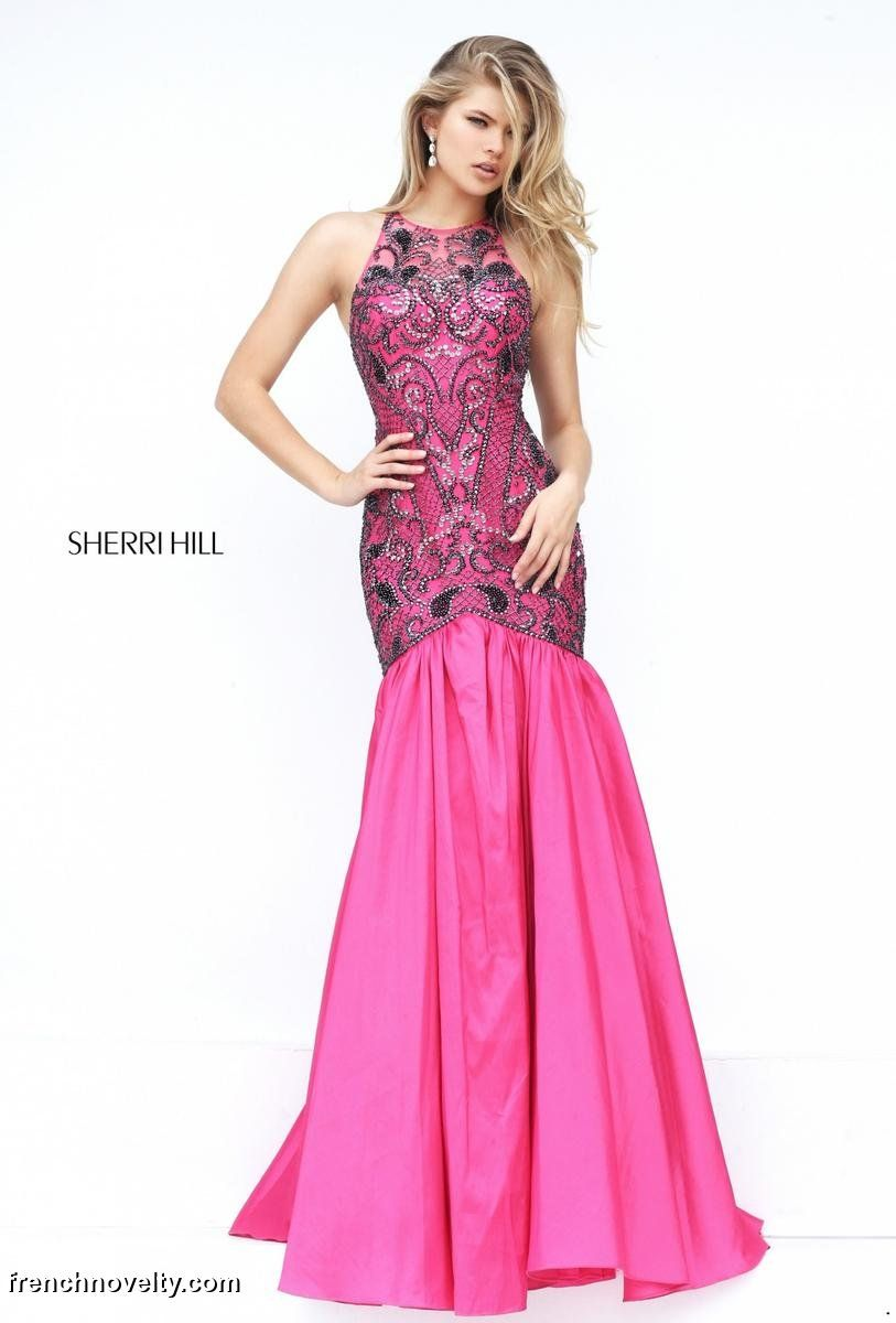 Sherri Hill 50111 Beaded Mermaid Prom Dress: French Novelty