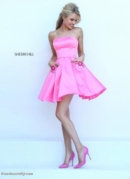 Sherri Hill 50220 Short Prom Dress with Pockets: French Novelty