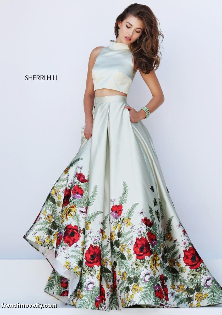 Sherri Hill 50270 Floral 2pc Prom Gown: French Novelty