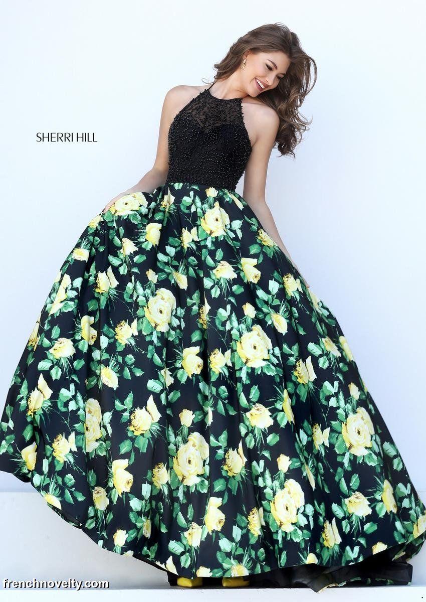 Flowered Prom Dress Sherri Hill