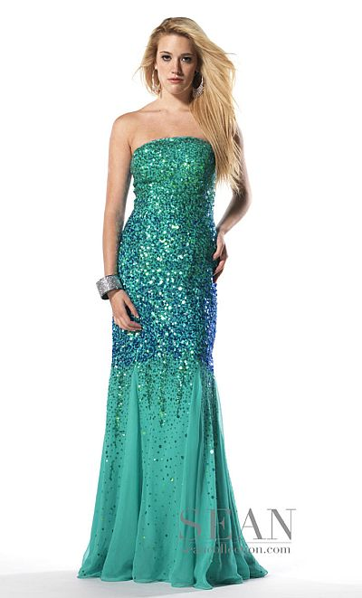 a81c150ae0 Sean Collection Ombre Sequin Prom Dress 50452 French Novelty