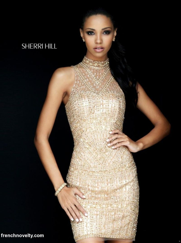 Size 00 Teal Sherri Hill 50521 Beaded Cocktail Dress