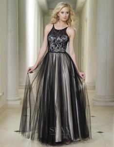 e2226da7170 Sean Collection 50746 Beaded Illusion Ball Gown