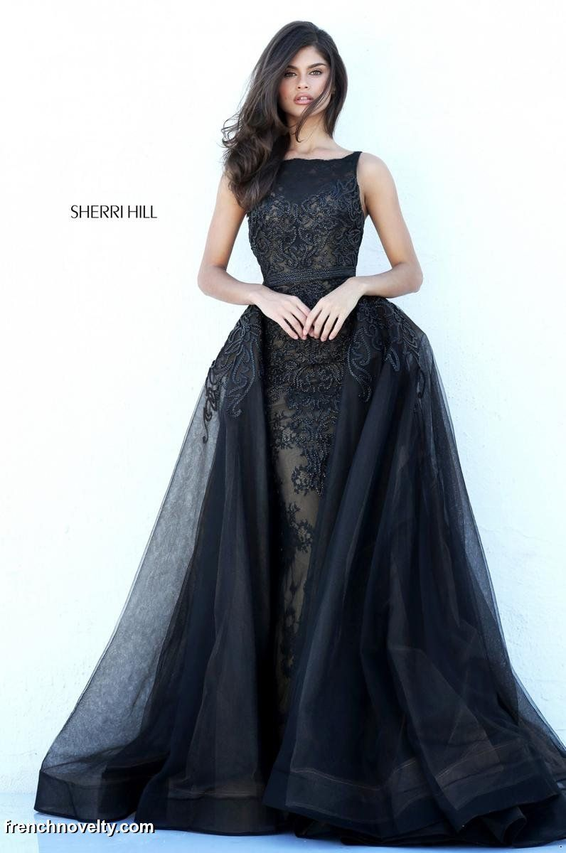 Sherri Hill 50768 Gown with Sheer Overskirt: French Novelty