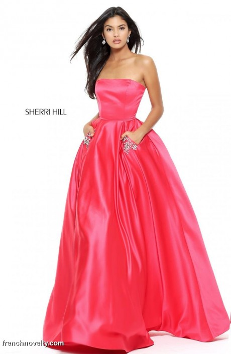 Sherri Hill 50812 Ball Gown with Beaded Pockets: French Novelty