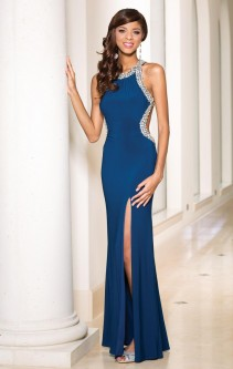 f357af3ddbc Sean Collection 50838 Jersey Gown with Cutout Sides