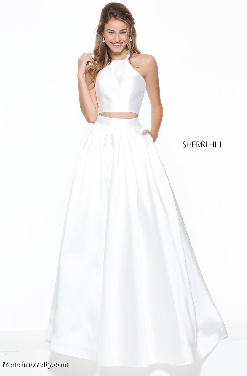 Sherri Hill 50893 Halter 2 Piece Prom Dress: French Novelty - photo #17