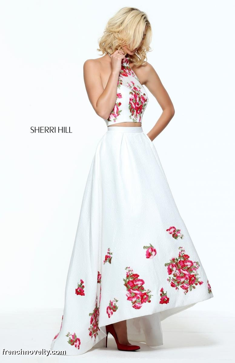 Rachel Allan 7702 High Low Floral Prom Dress: French Novelty