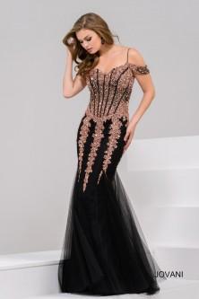 7b1efea5fd9 Jovani 51115 Off Shoulder Beaded mermaid Gown