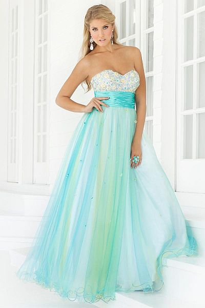 Pink By Blush Prom Pastel Tulle Ball Gown 5117 French Novelty