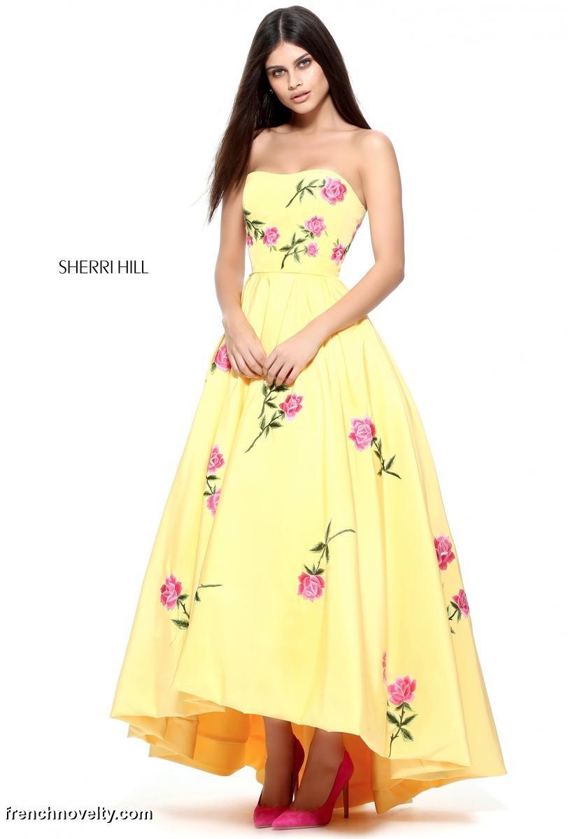 Sherri Hill 51035 High Low Prom Dress: French Novelty