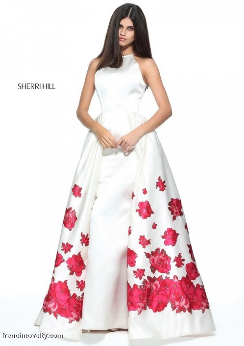 Sherri Hill 51193 Floral Border Print Prom Dress: French Novelty