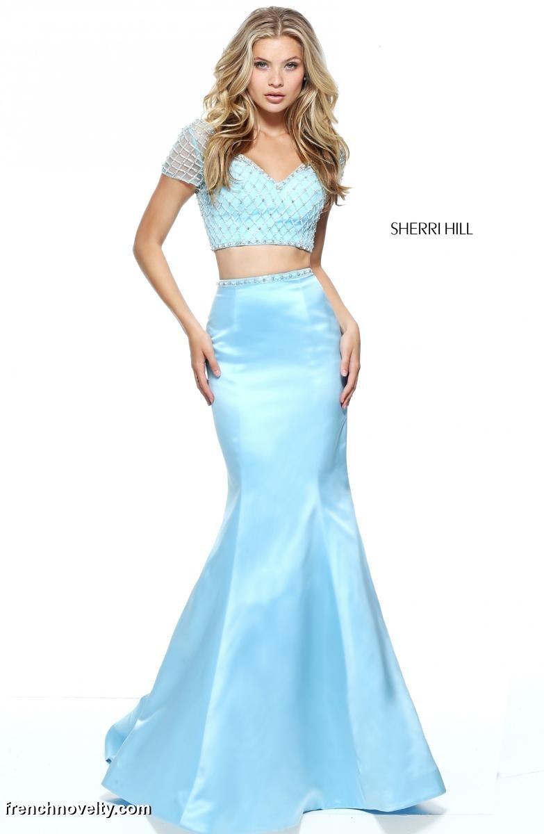 Sherri Hill 51196 Mermaid 2pc Prom Dress: French Novelty