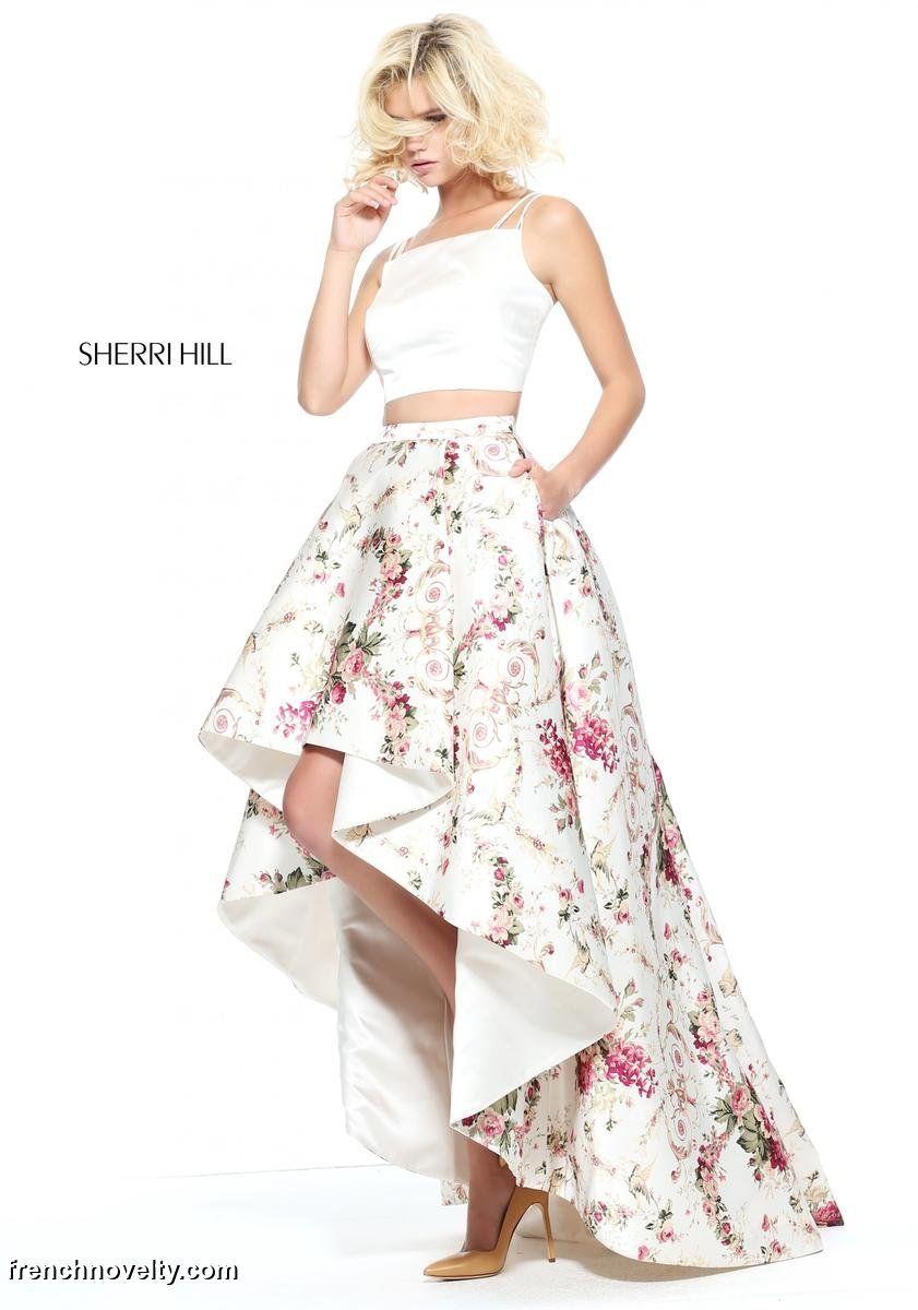 Sherri Hill 52711 High Neck Ombre Prom Dress: French Novelty