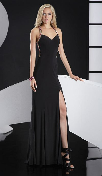 Jasz 5122 Strappy Back Evening Dress French Novelty