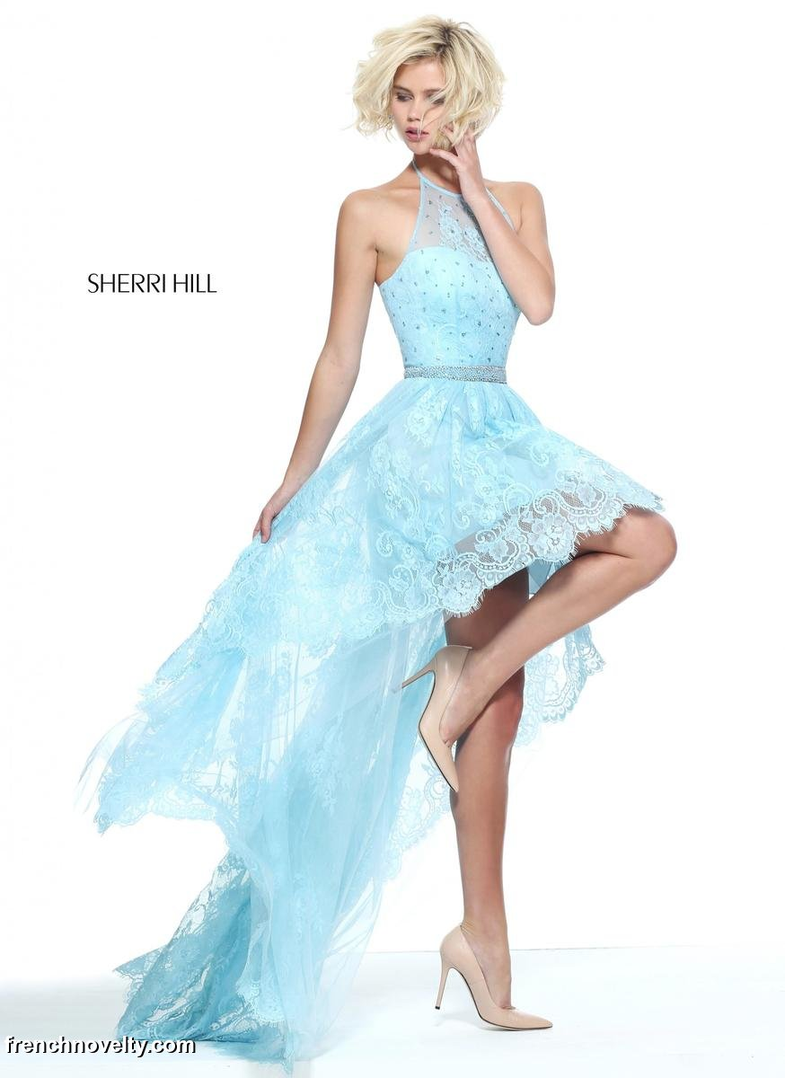 Sherri Hill 1577 High Low Ruffle Dress: French Novelty