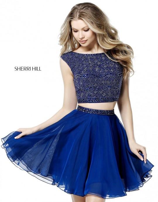 3fc2eaeda32 Sherri Hill 51298 Beaded 2 Piece Short Homecoming Dress  French Novelty
