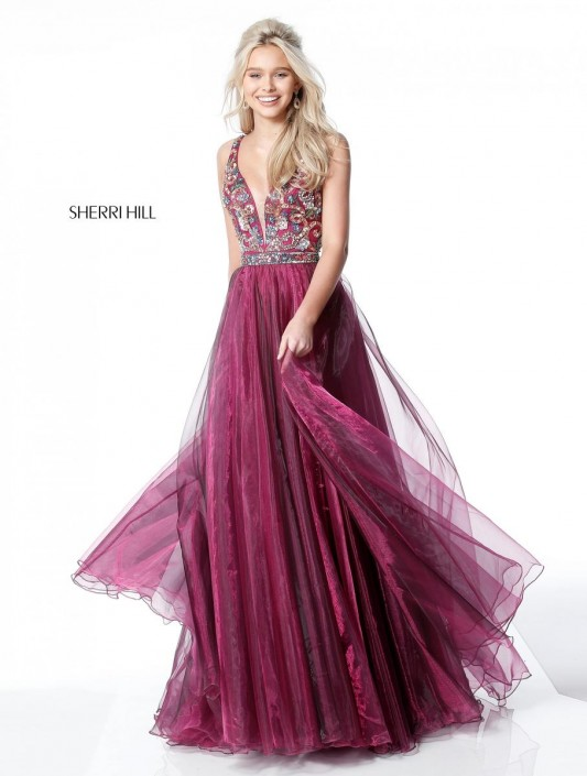 Sherri Hill 51391 Beaded Homecoming Gown: French Novelty