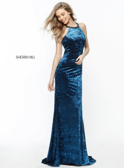 88e4d99fe73 Sherri Hill 51424 Strappy Back Slim Homecoming Gown  French Novelty