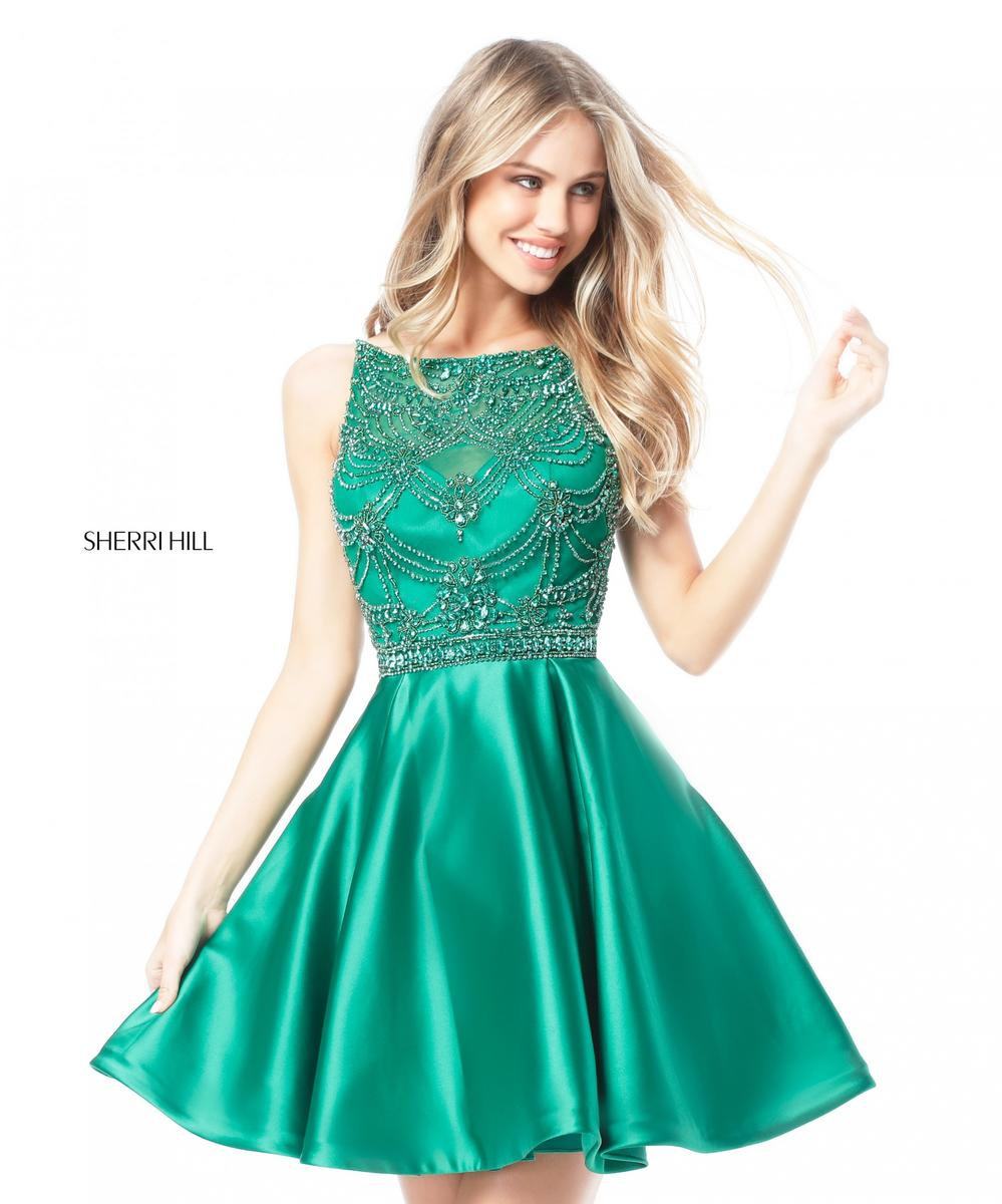 3986fc5aa94 Sherri Hill 51504 Short Homecoming Dress with Beading  French Novelty