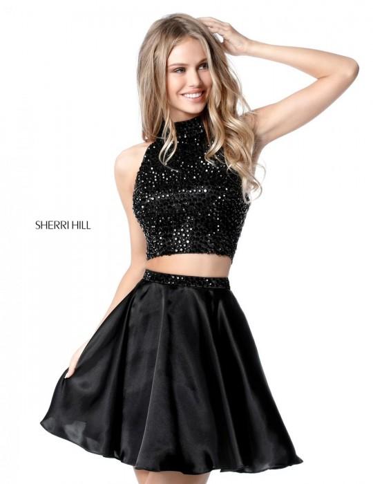Sherri Hill 51540 Beaded 2 Piece Short Homecoming Dress French Novelty