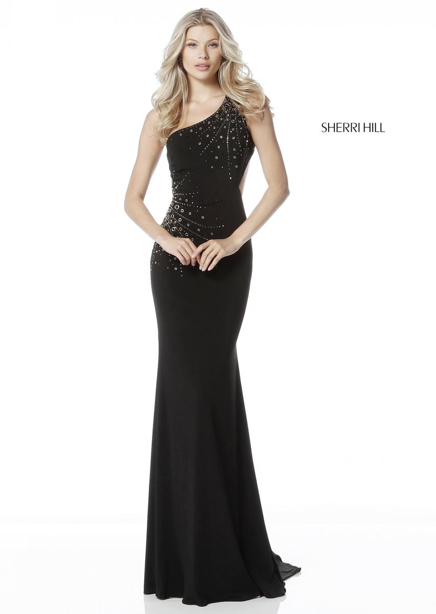 Sherri Hill 51566 One Shoulder Prom Dress: French Novelty