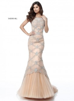 67a3cbcc39b Sherri Hill 51593 Intricate Beaded Mermaid Dress