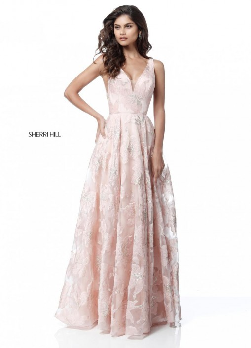 Sherri Hill 51628 Floral Design Prom Dress: French Novelty