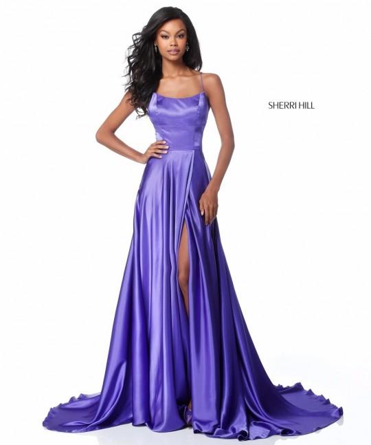 Sherri Hill 51631 Open Lace Up Back Prom Dress French Novelty