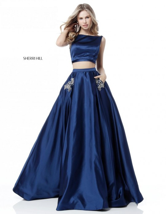 Sherri Hill 51673 Beaded Pocket 2 Piece Prom Gown French Novelty