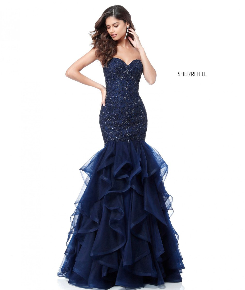Sherri Hill 51706 Ruffle Mermaid Prom Dress French Novelty