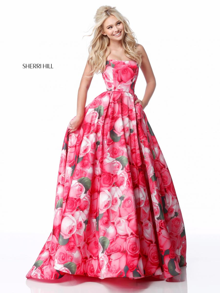 Sherri Hill 51792 Floral Ball Gown French Novelty