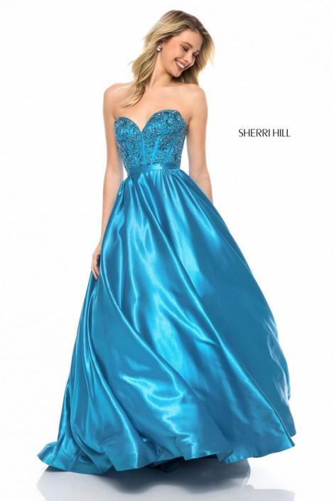 574139338302 Sherri Hill 51820 Beaded Sweetheart Prom Dress: French Novelty
