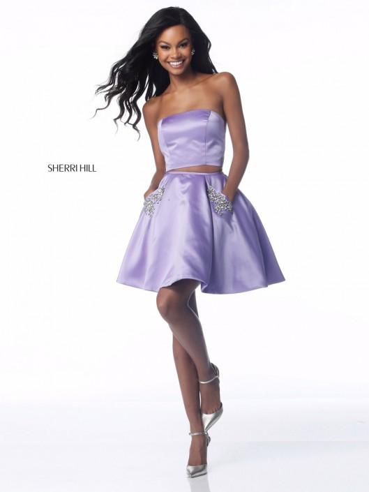 Sherri Hill 51823 Short 2pc Prom Dress with Pockets: French Novelty