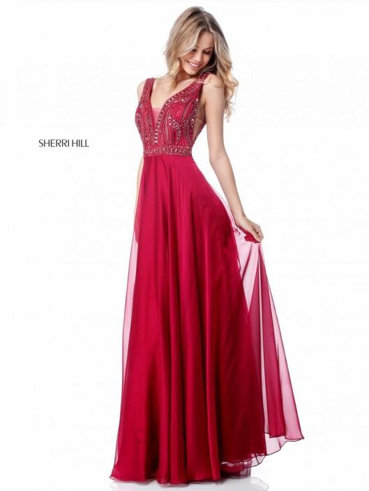 Size 12 Jade Sherri Hill 51874 Sheer Beaded Prom Dress French Novelty