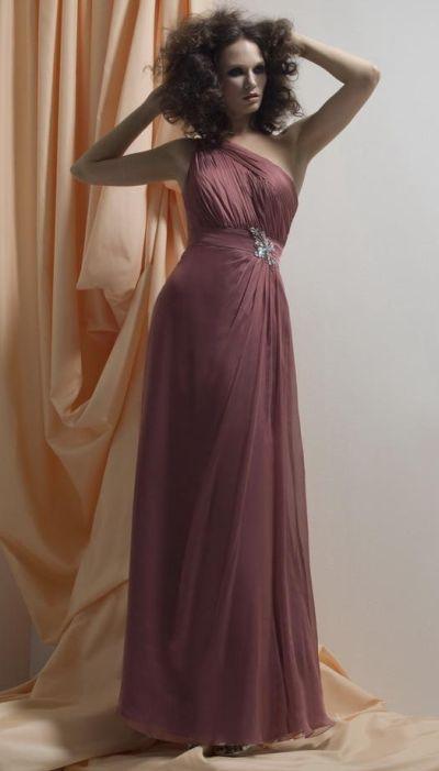 Liz Fields 519 One Shoulder Bridesmaid Dress French Novelty