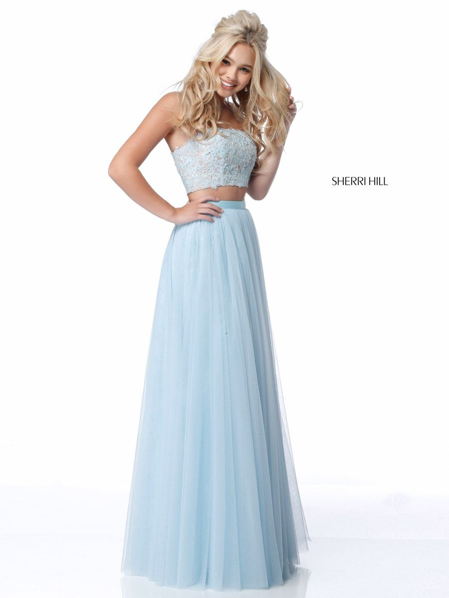 Sherri Hill 51922 Lace Top 2 Piece Prom Dress French Novelty