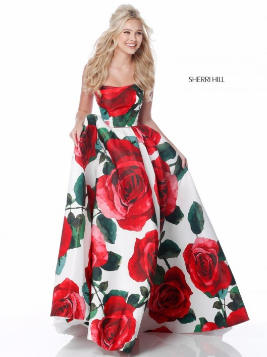 608636395f41 Sherri Hill 51926 Prom Dress with Big Roses: French Novelty