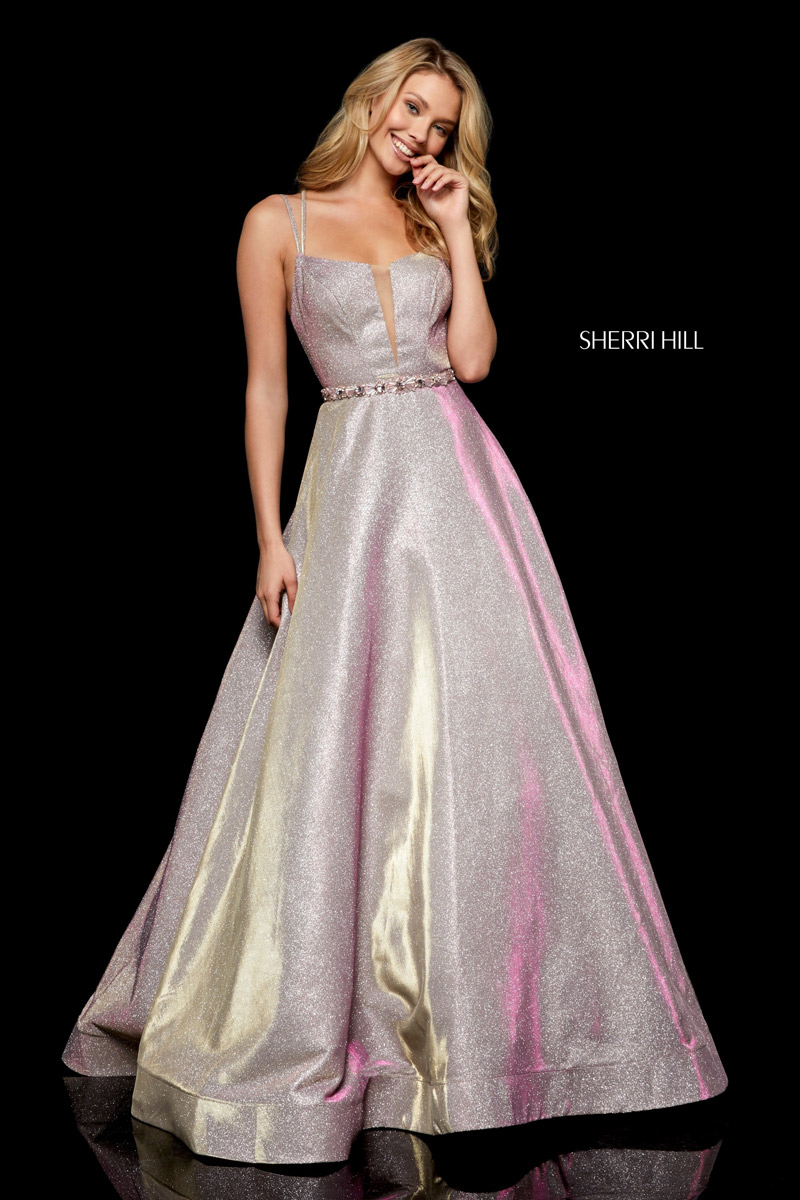 Sherri Hill 52124 Sparkling Strappy Back Gown French Novelty